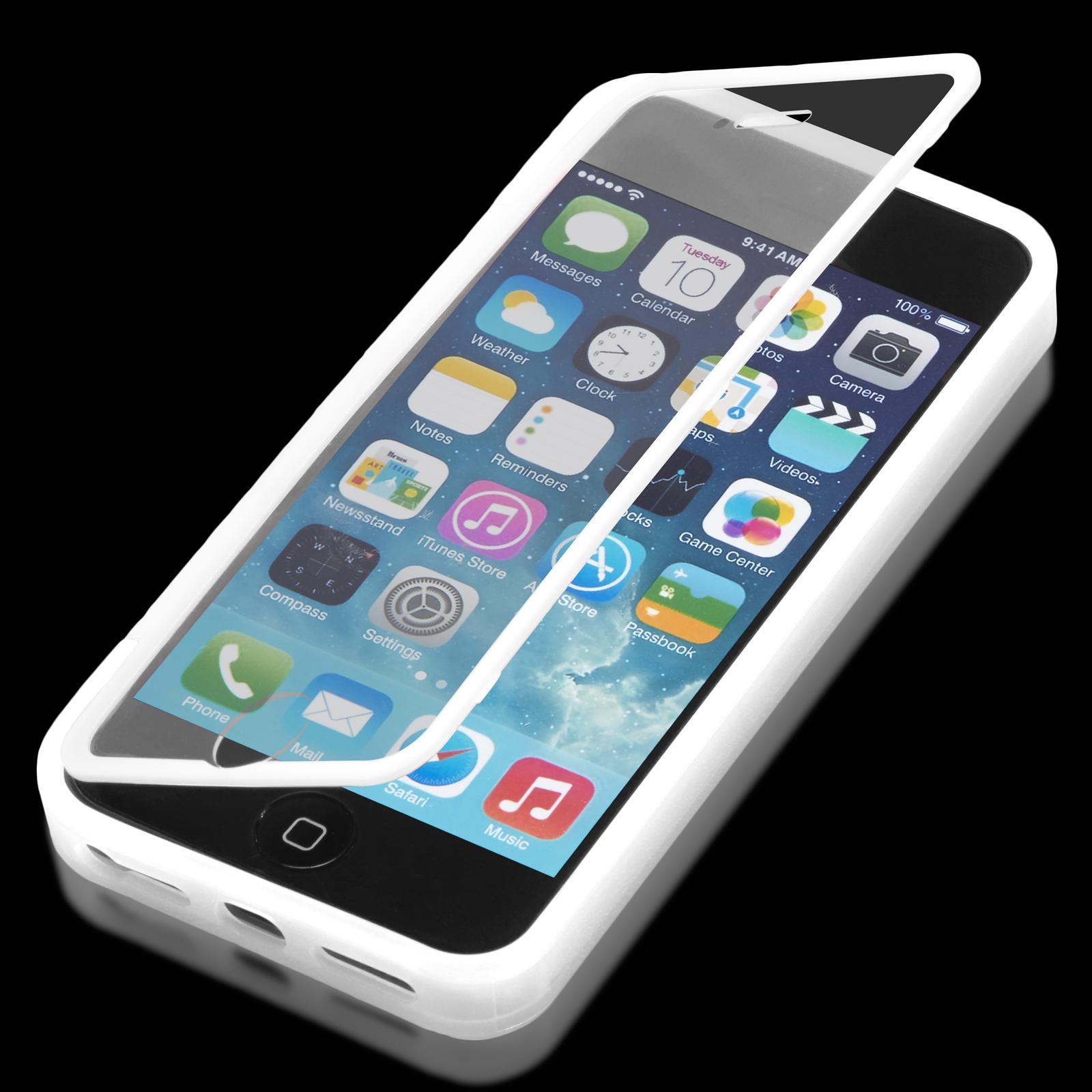 apple iphone 5 5s touch case slim flip tasche schutz